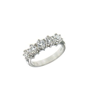 5 stones diamond ring 1.52ct - GM121/20