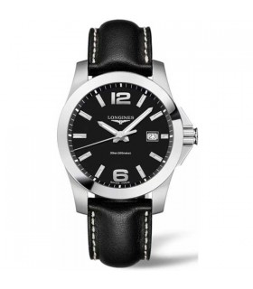 Conquest Black Quartz 41MM - L3.759.4.58.3