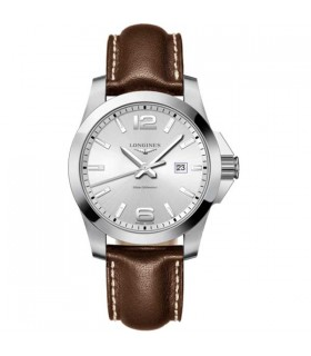 Conquest silver Quartz 43MM - L3.760.4.76.5