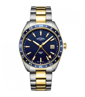 Henley Two-Tone Gold PVD GMT Quartz - GB05296/05