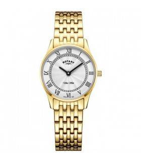 Rotary Ultra Slim Gold Plated Quartz 27MM - LB08303/01