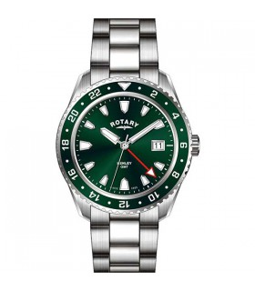 Rotary Henley Green Steel Quartz 41.5MM - GB05108/24