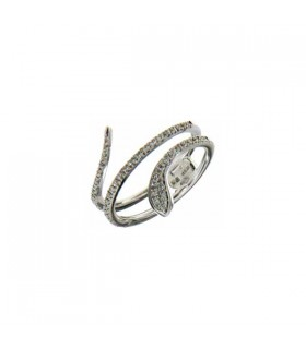 Snake diamond ring 0.23ct - Z675