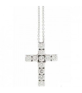 Cross pendant with chain 18K - 1G03706BB5450