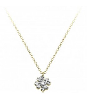 Love in flower pendant with chain - 1G09614BB1450