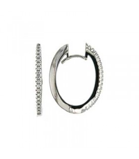 Hoops diamond earrings - Z237