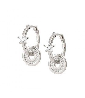 Nomination Sentimental silver cz Circle earrings - 149206 003