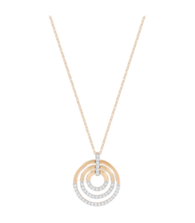 Circle pendant White, Rose Gold plated M - 5349193