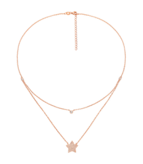 Stories Rose Vermeil and CZ Necklace - 5020.3622
